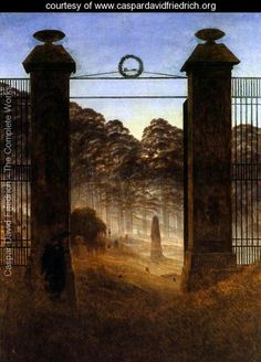 The Cemetery Entrance 1825 - Caspar David Friedrich - www.caspardavidfriedrich.org