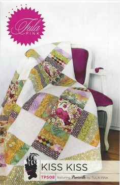 Kiss Kiss Quilt Pattern by Tula Pink by JeanMariesFabrics on Etsy