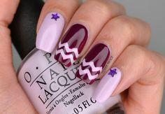 Purple Taping Nail Art