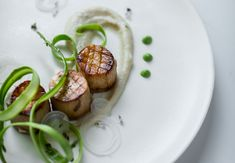 Wicked Healthy Vegan King Oyster Scallops with Shaved Asparagus and Corona Butter