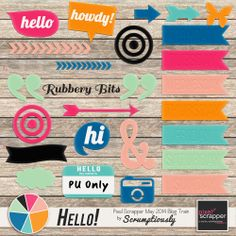 Free digital rubber elements from Scrumptiously for the PixelScrapper May 2014 Blog Train