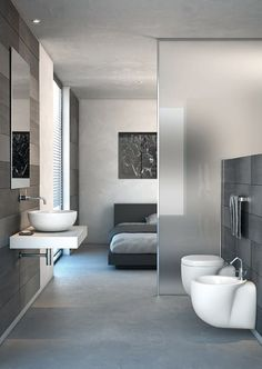 we invite you to watch our beautiful 2017 photo gallery of modern partition wall designs and ideas( plasterboard partition walls, glass room partition walls, room divider curtains, wooden partition design ideas Open Bathroom, Glass Bathroom, Design Bathroom, Shower Bathroom, Bathroom Ideas, Bath Design, Master Bathroom, Spa Shower, Grey Bathrooms