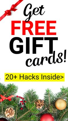 Rack up free gift cards just in time for the holidays with these hacks! If you're trying to save money during the Christmas season, this is a must Make Easy Money, Make Money From Home, Making A Budget, Making Ideas, Free Gift Cards, Free Gifts, Money Saving Tips, Money Hacks, Earn More Money