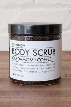 An ultra exfoliating body scrub made with cardamom and coffee. - Certified Organic - Handcrafted in CO, USA