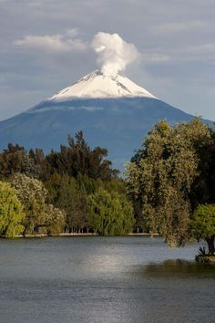 El Popo desde la Laguna de San Baltazar Puebla #Mexico