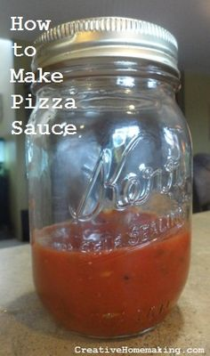 Homemade pizza sauce tastes great and is really easy to make. Make some from your summer tomato crop and can it for the winter, or you can also use store-bought tomato sauce.