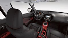 Nissan JUKE® SL shown in Black/Red Leather with Red Trim.