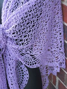 Dreams Shawl. Beautiful crochet lace in a gorgeous silk/cashmere from Skaska Designs.