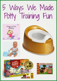 """Ways to Put the """"Fun"""" in Potty Training:)"""