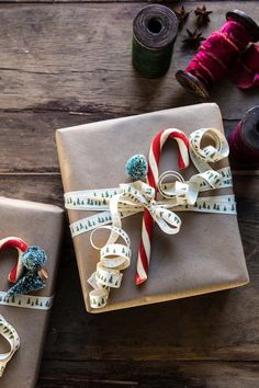 Gift Wrapping Ideas | halfbakedharvest.com #holiday #DIY #crafts