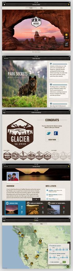 National Parks by National Geographic // iPad App // Rally Interactive