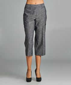 Love this Larry Levine Black Twill Cargo Capri Pants by Larry Levine on #zulily! #zulilyfinds