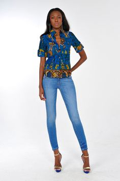 African Print Shirt by on Etsy ~Latest African Fashion, African… African Inspired Fashion, African Print Fashion, Africa Fashion, Fashion Prints, African Prints, African Attire, African Wear, African Dress, African Style