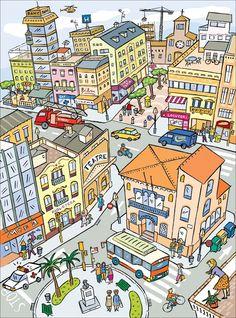 Describing the City. Visit: www.emilieslanguages.com or https://www.facebook.com/emilieslanguages #emilieslanguages #city