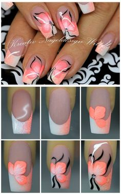 beautiful nail design ideas for spring nails - nagel-design-bilder.de - beautiful nail design ideas for spring nails # Nail design # Spring nails The Effectiv - Gel Nail Art, Nail Art Diy, Diy Nails, Cute Nails, Pretty Nails, Nail Nail, Beautiful Nail Designs, Beautiful Nail Art, Gorgeous Nails