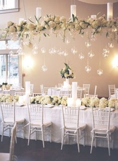 winter white decor via @Style Me Pretty |  Bamber Photography