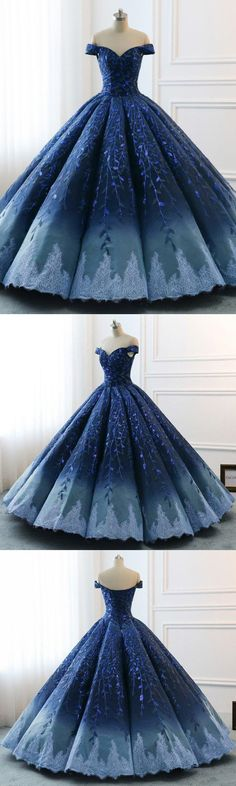 Ball Gown Navy Blue Lace Applique Ombre Off the Shoulder Pri.-Ball Gown Navy Blue Lace Applique Ombre Off the Shoulder Princess Quinceanera Dresse Ball Gown Navy Blue Lace Applique Ombre Off the Shoulder Princess Quinceanera Dresse - Burgundy Homecoming Dresses, Prom Dresses With Sleeves, Cheap Prom Dresses, Quinceanera Dresses, Wedding Dresses, Dressy Dresses, Lace Ball Gowns, Ball Dresses, Vintage Prom