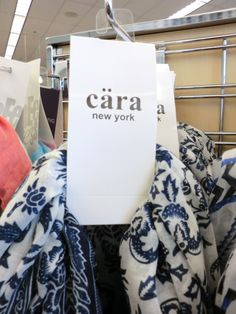 Cära New York accessories. Umlaut appears only on labels. (Photographed at Nordstrom Rack, San Francisco.)