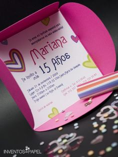 11 nuevas invitaciones a 15 años (10) Dress, Save The Date, Invitation Cards, Party