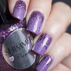 Best of 2018 Glitter Ombre Nails Trends