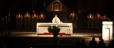 Roraty na Służewie (fot. br. Mariusz Skowroński OP) #warszawa #służew #roraty #liturgia #dominikanie #kościół #noc