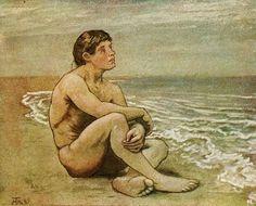 Hans Thoma ´- Loneliness. Hans Holbein, Caspar David Friedrich, Hans Thoma, Carl Spitzweg, Masculine Art, Expressionist Artists, Art Of Man, Male Figure, Gay Art