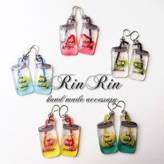 ハンドメイドマーケット minne(ミンネ)| メイソンジャーのピアス・イヤリング Handmade Beads, Earrings Handmade, Diy Earrings, Shrink Plastic Jewelry, Plastic Art, Plastic Resin, Funky Jewelry, Resin Jewelry, Jewelry Crafts