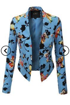 Floral Cropped Blazer