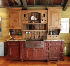This Rustic Kitchen Has A Stand Alone Farmhouse Apron Sink