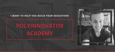 The PolyInnovator Academy was built to teach you the fundamentals, and advanced ideology, for pursuing your own Self-Education Pilot Course, Self Exploration, Gary Vaynerchuk, Call To Action, Great Videos, First They Came, Self Development, When Someone, Self Improvement