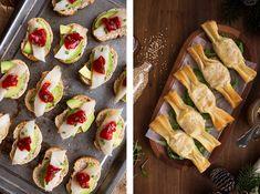 Tres Aperitivos fáciles y originales para Navidad - Shoot the Cook - Recetas fáciles y trucos para fotografiar comida Pasta Filo, Deli Food, Fiesta Party, Crepes, Queso, Zucchini, Catering, Appetizers, Food And Drink