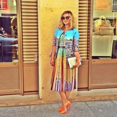 Mary Katrantzou Nasiba Adilova in Resort 2014