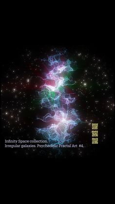 Infinity Space collection. Irregular galaxies. Psychedelic Fractal Art #4.