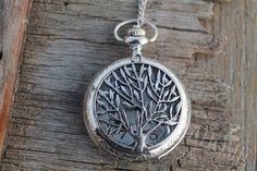 Items similar to The silver tree of life Pocket Watch Necklace Pendant man Jewelry Vintage on Etsy, a global handmade and vintage marketplace.