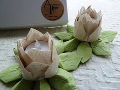 paper lotus candle holders