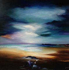 Majestic Skies Original by Lillias Blackie Little Acorns, Rock Pools, Yorkshire, Scotland, Coast, Ocean, Clouds, Sky, Landscape