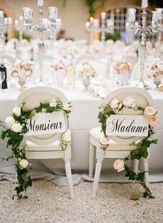 20 Chic Wedding Chair Decoration Ideas for Bride and Groom #weddings #weddingdecorations