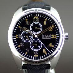 【買取】DOLCE&GABBANA(ドルチェ&ガッバーナ) バリローチェ D&G TIME バリローチェ DW0640 クオーツ SS カーフ キャンバス ブラック文字盤時計/専門鑑定士があなたの商品を高額査定!全国どこでも自宅にいながら申込から買取まで完了します♪