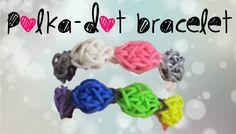 Polka-Dot Rainbow Loom Bracelet Tutorial- ORIGINAL DESIGN