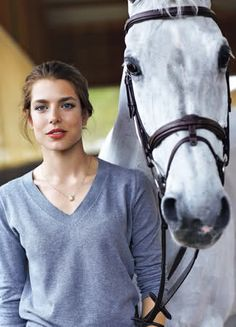 Charlotte Casiraghi - outfit and necklace