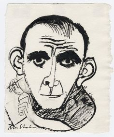 Ben Shahn Shahn Caricature of Famous Artists School Founder Al