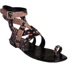 PIERRE HARDY Snake Stamped Gladiator Sandal $1,160 $459 Sale