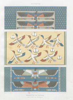 Prisse d'Avennes, Histoire de l'art égyptien d'après les monuments depuis les temps les plus reculés jusqu'à la domination romaine, Paris, atlas en deux volumes renfermant 160 planches en chromolithographie, et un volume de texte, 1868-1877
