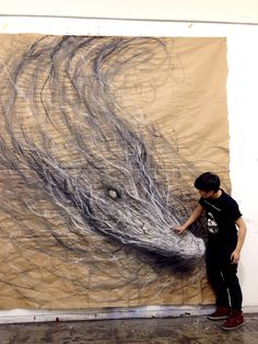 Giant paintings by Fiona Tang - Design daily news