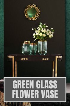 Painted green glass flower vase is an unforgettable gift idea for your friends, family members or yourself. Glass vase of flowers is also a valuable addition to the existing modern home decor collection and a perfect start of a new one. Vintage glass flower vase brings a modern touch of minimalistic simplicity to your living room, foyer or office. Choose a centerpiece ceramic flower vase to celebrate housewarming, anniversary, birthday or any other special moment. #flowervase #vase…