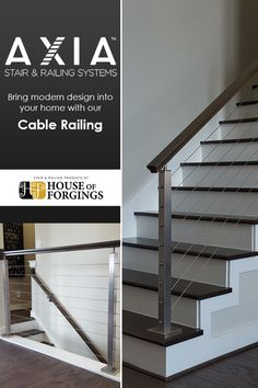 Stair and Railing Products Stainless Steel Cable Railing, Parts Of Stairs, Iron Balusters, Staircase Remodel, Modern Stairs, Stair Railing, Home Builders, Remodeling, Modern Design