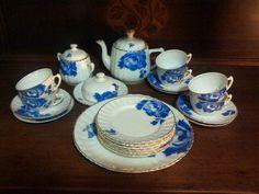 Jogo de porcelana para chá e bolo da marca Mauá