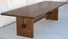 Black Walnut Trestle Table 2