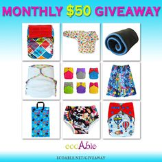 April Giveaway is now open! Win $50 Gift Certificate from EcoAble Cloth Diapers! Enter giveaway here: ecoable.net/giveaway #ecoable #clothdiapers #clothdiapering