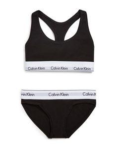 Calvin Klein Underwear Modern Cotton Bralette and Bikini Gift Set Cotton Bralette, Cotton Lingerie, Bralette Bikini, Bra Lingerie, Black Bralette, Bra And Underwear Sets, Black Underwear, Modelos Calvin Klein, Ropa Interior Calvin
